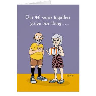 48th Wedding Anniversary Card: Love Card