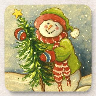 4901 Snowman Christmas Beverage Coasters