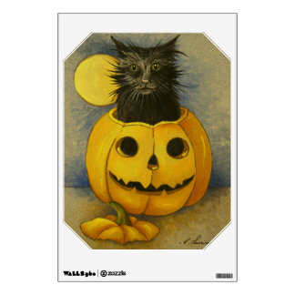 4919 Black Magic Kitty Halloween Wall Decal