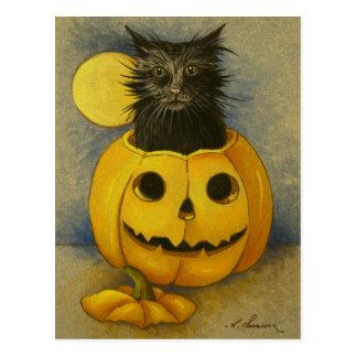 4919 Black Magic Kitty Postcard