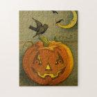 4923 Jack-o'-Lantern, Crows & Moon Puzzle