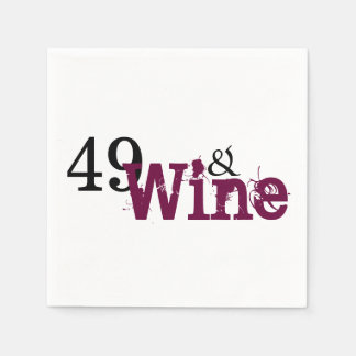 49 and Wine 49th Birthday Paper Napkins