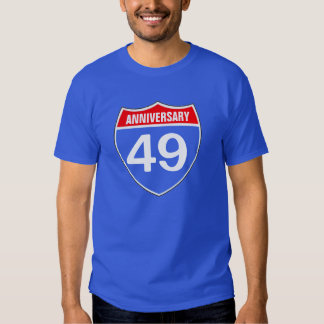 49 anniversary t-shirts