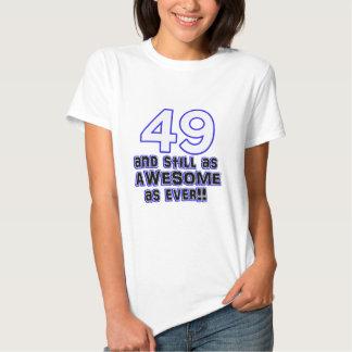 49 birthday design t-shirts
