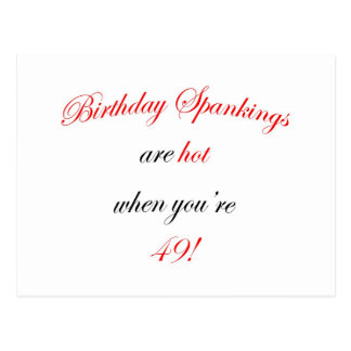 49 Birthday Spanking Postcard