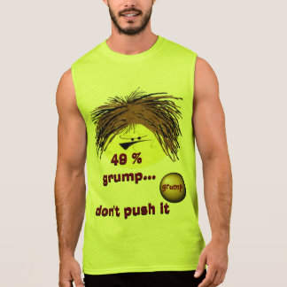 49 % grump grumpy guy sleeveless t-shirts