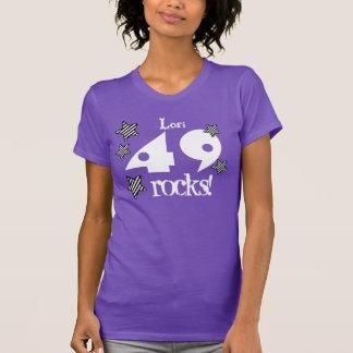 49 or ANY YEAR Rocks 5 Striped Stars V012 T-Shirt
