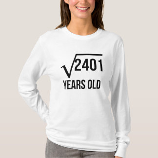 49 Years Old Square Root T-Shirt