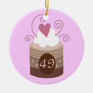 49th Birthday Gift Ideas For Her Ceramic Ornament