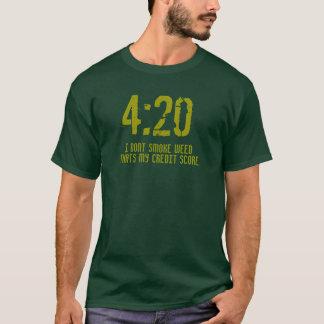 """4:20 Credit Score"" t shirt"