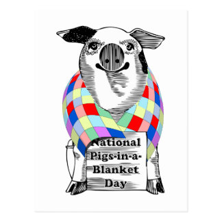 4-24 National Pigs-in-a-Blanket Day Postcard