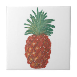 "4.25""x4.25"" Ceramic Tile, Coaster - Pineapple"