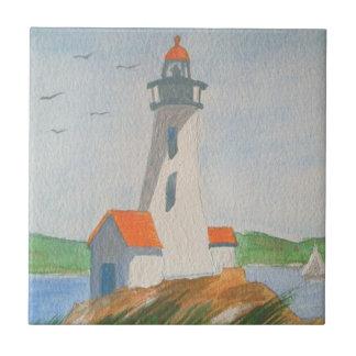 "4.25"" x 4.25"" Ceramic Tile - New England Coast"