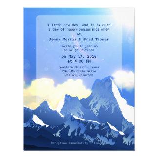 "4.25"" x 5.5""  Mountain Majestic Wedding Invitation"