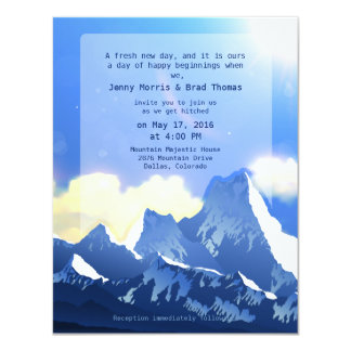 "4.25"" x 5.5""  Mountain Majestic Wedding Invitation"