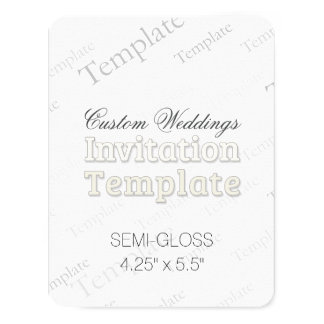 "4.25"" x 5.5"" Semi Gloss Custom Wedding Invitation 4.25"" X 5.5"" Invitation Card"