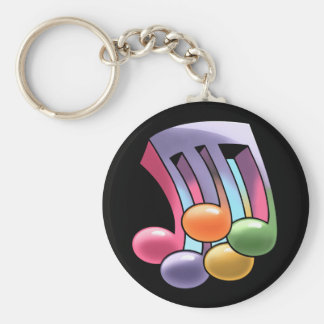 4/5 Time Basic Round Button Keychain