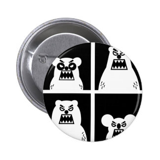 4 Angry Bears 2 Inch Round Button