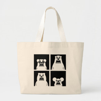 4 Angry Bears Large Tote Bag