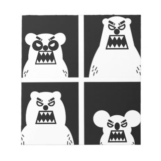 4 Angry Bears Notepad