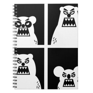4 Angry Bears Spiral Notebooks