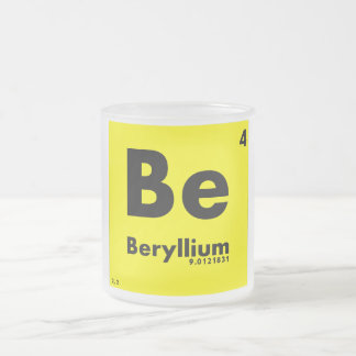 4 Beryllium | Periodic Table of Elements Frosted Glass Coffee Mug