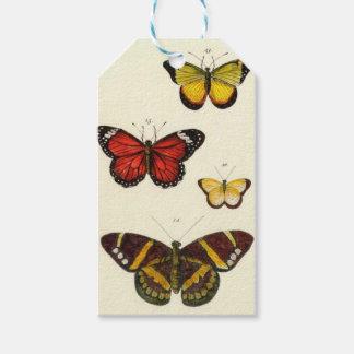 4 butterflies gift tags