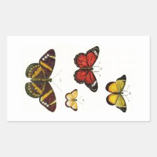 4 butterflies sticker
