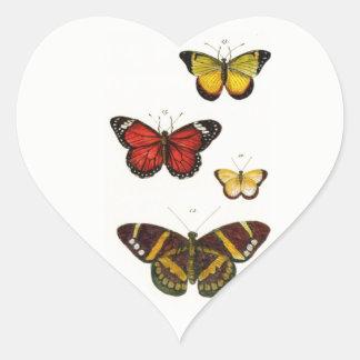 4 Butterflies - Sticker in the form of heart