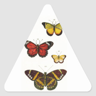 4 butterflies triangle sticker