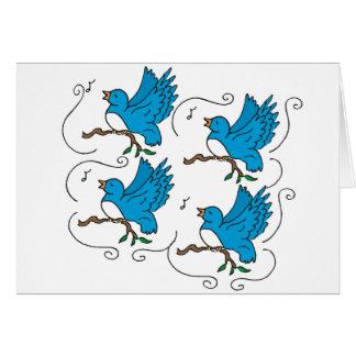 4 Calling Birds Card