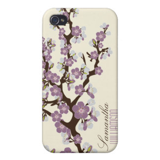 4 Cherry Blossom (purple) Covers For iPhone 4