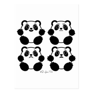 4 Emotional Pandas Postcard