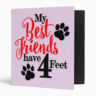 4 Feet Best Friends Binder