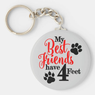 4 Feet Best Friends Keychain