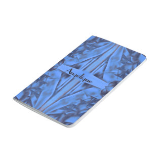 4 Figures Abstract in Blue Customizable Text Journal