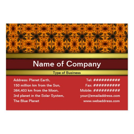 4 Flames Grid Business Card Template