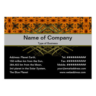 4 Flames Grid Large Business Card