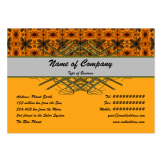4 Flames Grid Pack Of Chubby Business Cards