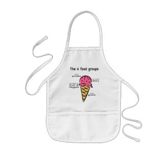 4 food groups child apron