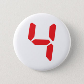 4 four red alarm clock digital number 2 inch round button