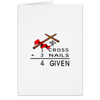 4 Given Greeting Card