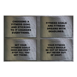 4 Goals Quotes Fitness Collage Poster