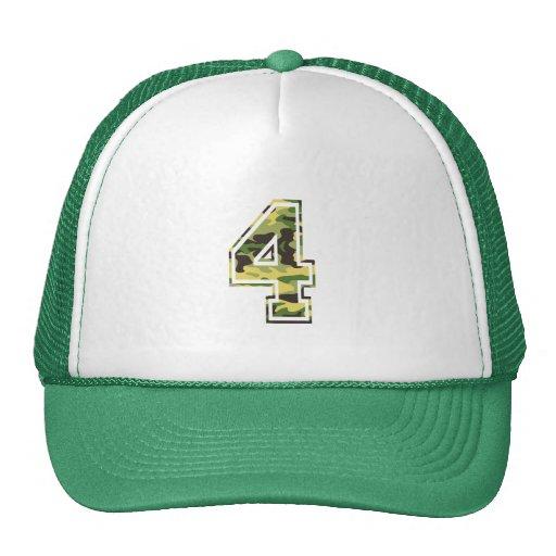 #4 Green & Yellow Camo Hats
