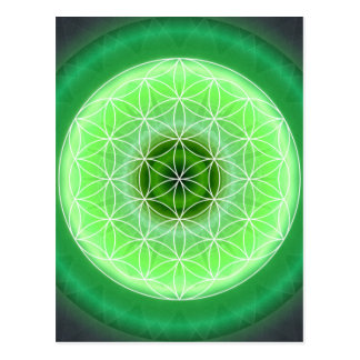 4 heart chakra green created by Tutti Postcard