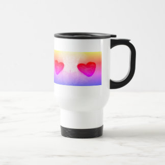 4 hearts Ipanema tone travel mug