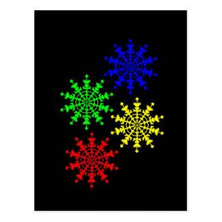 4 Ice Crystals Postcard