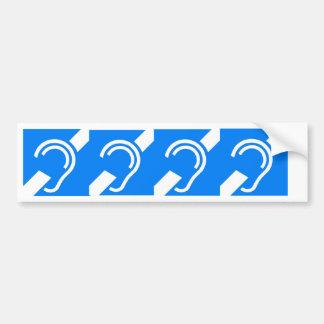 4 International Symbols for the Deaf Bumper Sticker