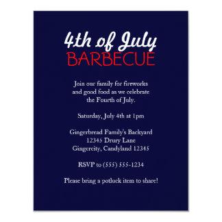 4 juillet invitation de barbecue