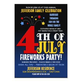 4 juillet invitation de célébration de famille